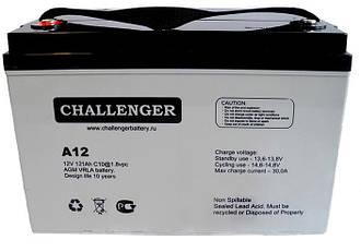 Аккумулятор Challenger A12-134 , AGM - 134 Ач, 12В