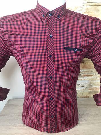 Мужская рубашка длинный рукав X-port в клетку, фото 2