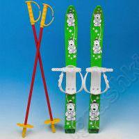 Лыжи пластик с креплением + палки 90 см.6128 (шт.)