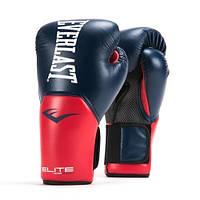 Боксерские перчатки EVERLAST ELITE PROSTYLE. Кожаные Перчатки для бокса синие