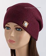 Женская шапка с люрексом Клэр LX бордового цвета