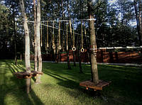 Монтаж веревочных парков