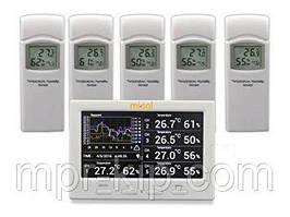 Реєстратор температури і вологості MISOL WS-HP3001-8MZ з 5 виносними датчиками (-40 до 60°C; 10% to 99%) DWP