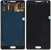 Дисплей + сенсор Samsung A500 Galaxy A5, A500H Чорний LCD TFT, з регулюванням яскравості