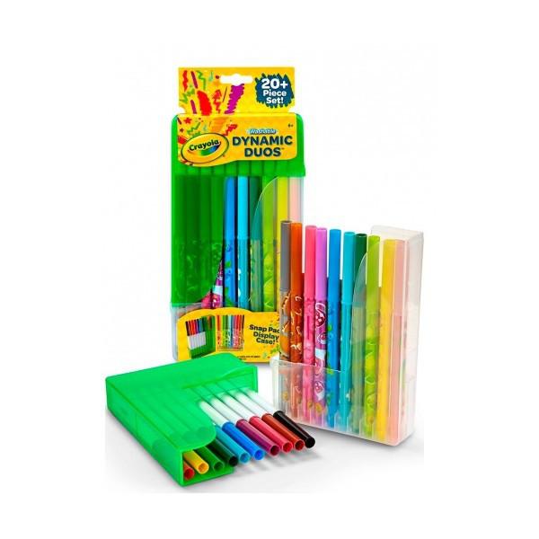 Набор парных фломастеров10+10 штук Crayola 04-6829