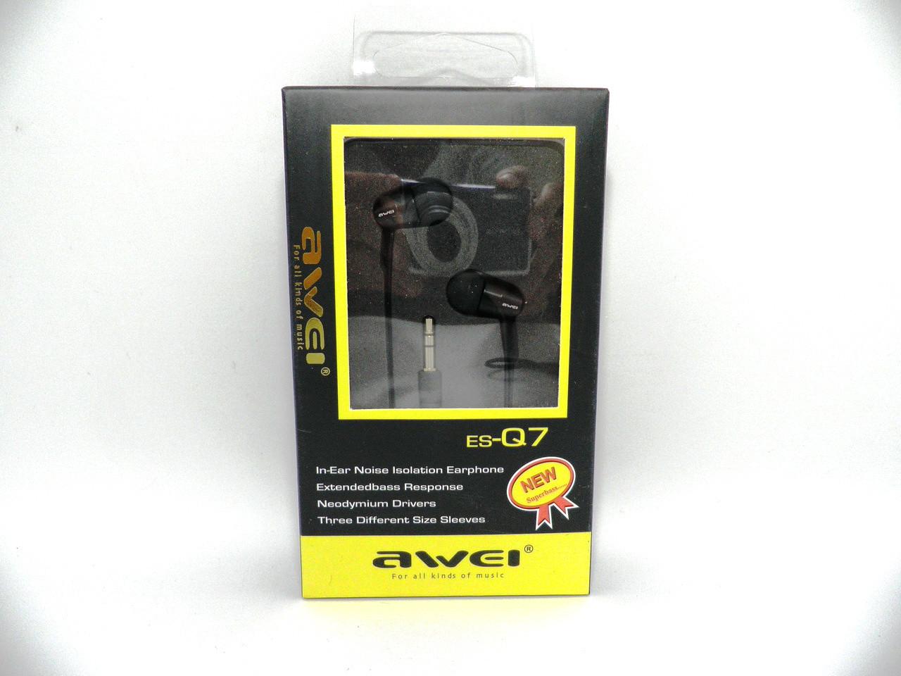 Наушники Awei ES-Q7 Black