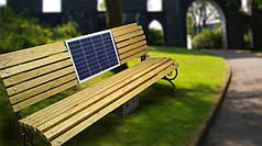 Скамья без поручней для зарядки мобильных гаджетов Solar panel bench