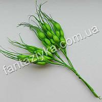 Искусственные колоски пшеницы зеленые, в пучке 5 штук