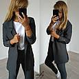 Удлиненный пиджак в полоску, фото 2