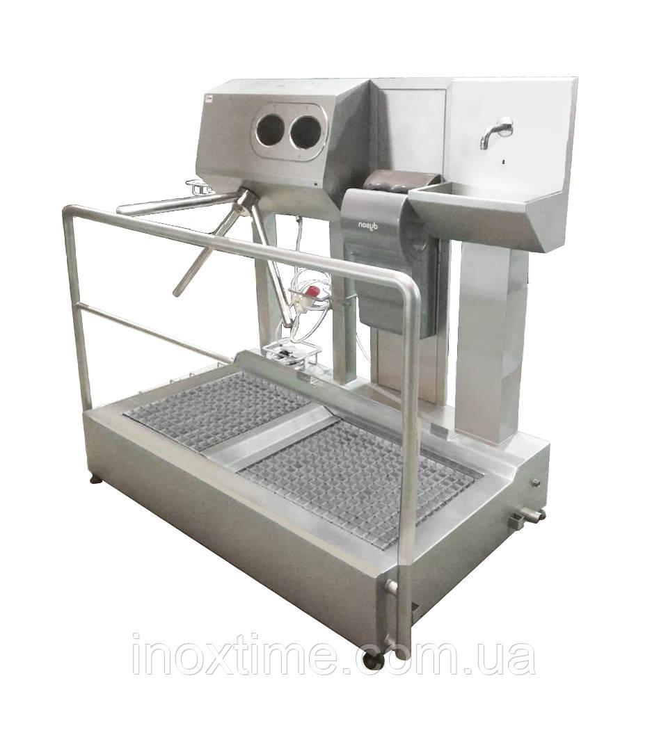 Санпропускник  с встроенным бесконтактным умывальником и сушкой для рук SPG 1110 D R