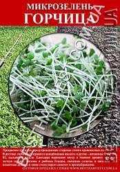 Семена на микрозелень «Горчица» 100 г