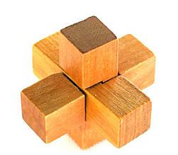 Деревянная головоломка Крест из 3 частей