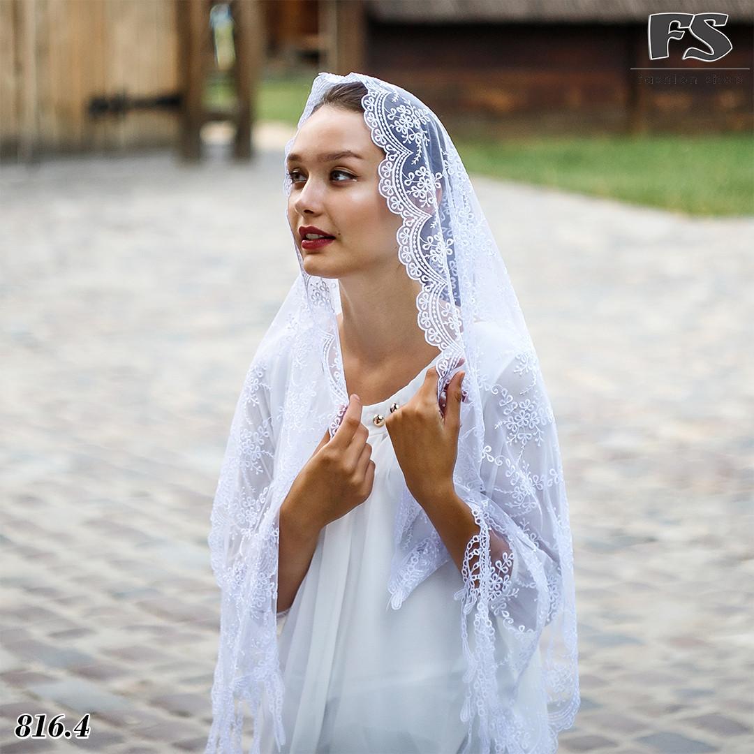 Свадебный шарф Лира белый