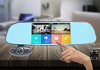 Зеркало-регистратор на 3 камеры с ИК-ночной подсветкой