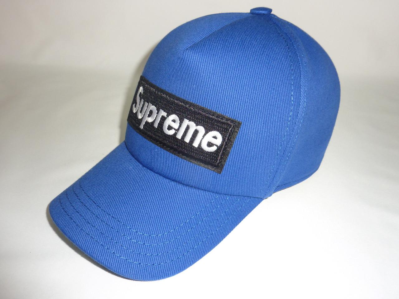 Кепка синяя Supreme
