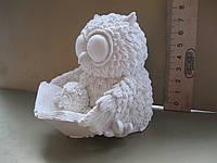 Гипсовая фигурка для раскрашивания статуэтка. Гіпсова фігурка для розмальовування. Сова с совенком и книгой