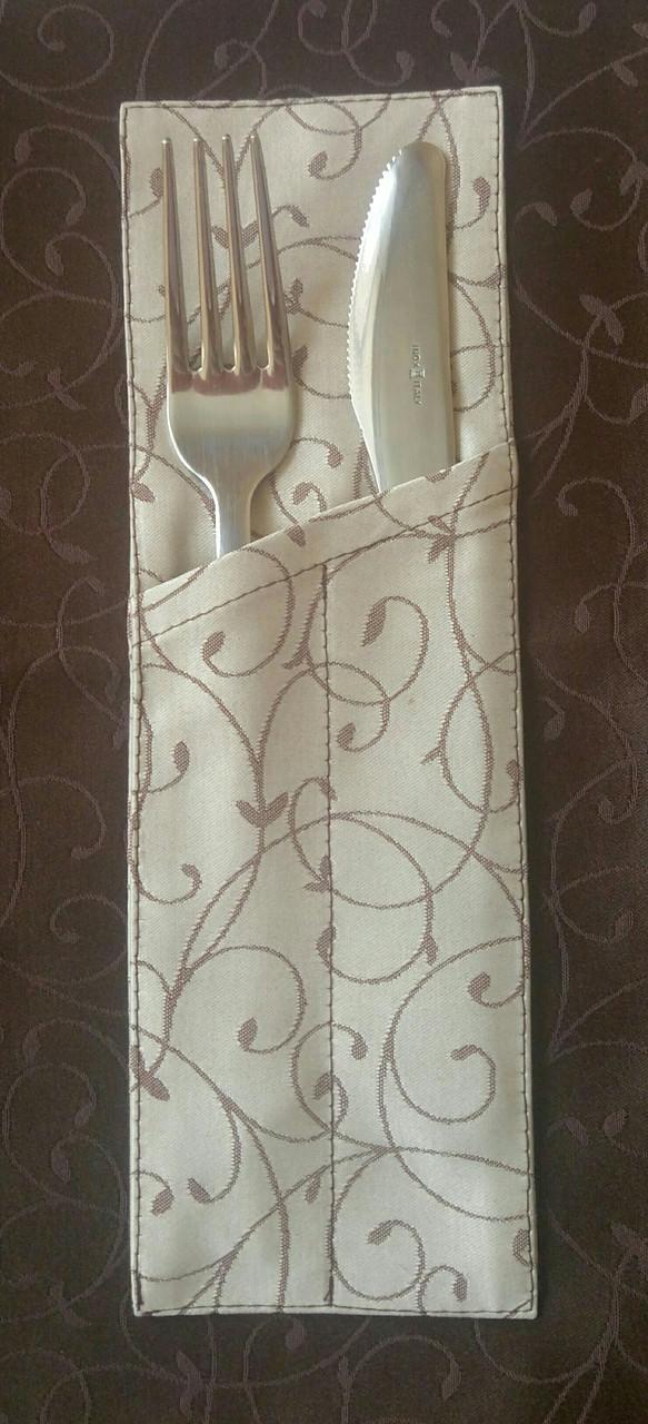Куверт (конверт)  на 2 прибора , ткань Мати  рис.1812  Биколор.