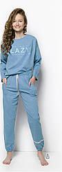 Пижама для девочек морской меланж Taro 2251Girls Pajamas Long Jula. Польша