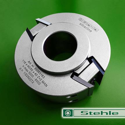 Профильная ножевая головка Stehle с ограничителем подачи 116x40/50x40, Z=2, фото 2