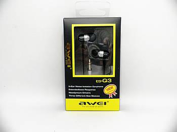 Наушники Awei ES-Q3 Silver