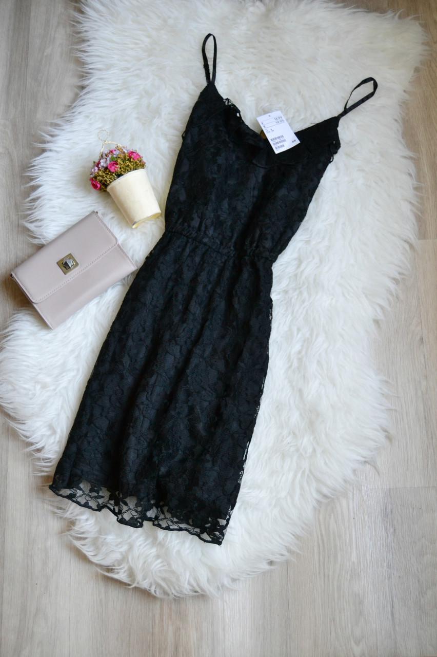 Новое короткое кружевное платье H&M
