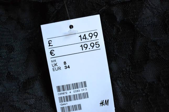 Новое короткое кружевное платье H&M, фото 2