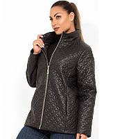 Стильная женская куртка черная на молнии размеры от XL 5097