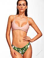 1db1688133634 Купальник Эмили с лифом йогуртного пудрового цвета и плавками в листьях  бразилиана