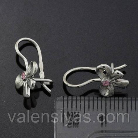 Серьги серебряные детские - Бантики, фото 2