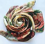 10266-2, павлопосадский платок (жаккард) шелковый с подрубкой, фото 8