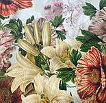 10266-2, павлопосадский платок (жаккард) шелковый с подрубкой, фото 7