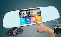 """Зеркало - видеорегистратор 5"""" дюймов на 3 камеры с ИК-ночной подсветкой"""