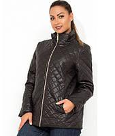 Модная женская куртка черная на молнии размеры от XL 5098