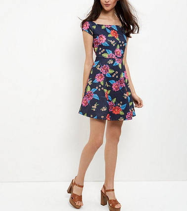 Новое цветочное платье с открытыми плечами New Look, фото 2