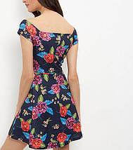 Новое цветочное платье с открытыми плечами New Look, фото 3