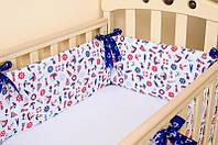 Бортик в детскую кроватку BabySoon Морячок 360см х 27см (506)