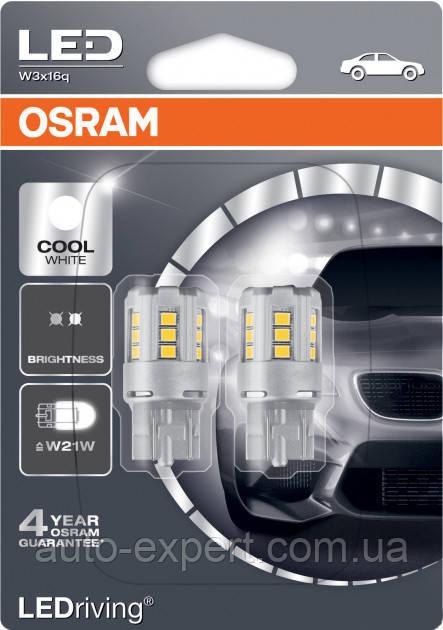 """Светодиодные лампы """"Osram"""" W21W LEDriving (WHITE)(12V)"""
