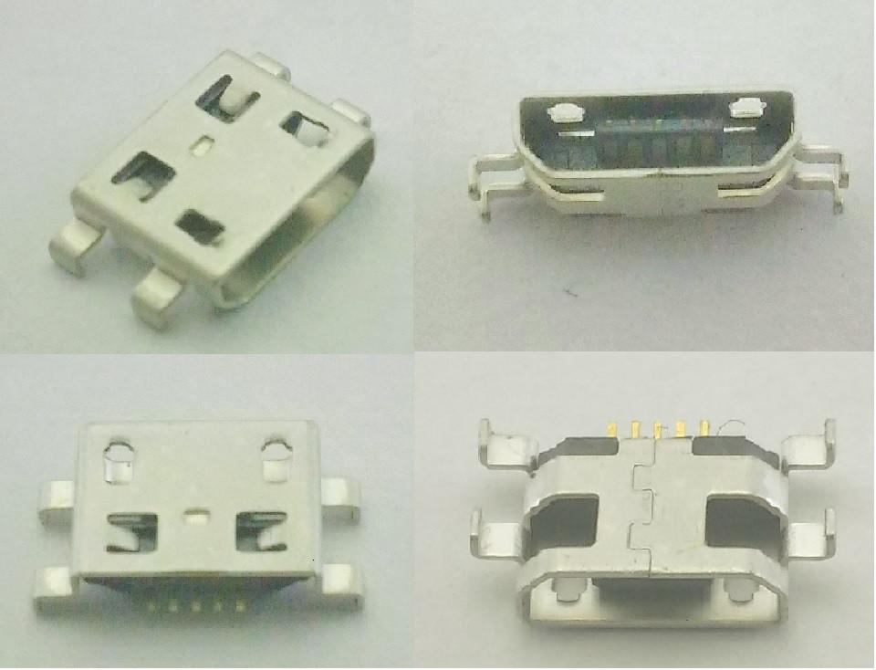 Коннектор Micro USB, Micro USB Гнездо, Micro USB разъем. №15. 1шт