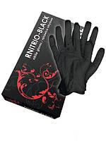 Перчатки  нитриловые неопудренные RNITRIlux-BLACK , размер XL,  50 пар