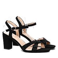 Черные женские босоножки 3DL1b F512 BLACK 37 размер