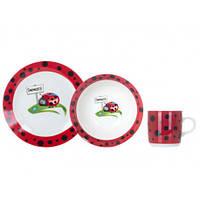 Детский набор посуды для детей, 3 предмета Limited Edition Ladybird, C147, /П2