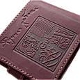 """Кошелек кожаный с карманом для монет """"Cash"""" (Guk). Цвет коричневый, фото 3"""