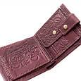 """Кошелек кожаный с карманом для монет """"Cash"""" (Guk). Цвет коричневый, фото 5"""