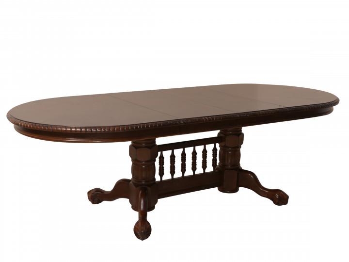 Обеденный раздвижной стол 4296 SWC темный орех Green River Wood