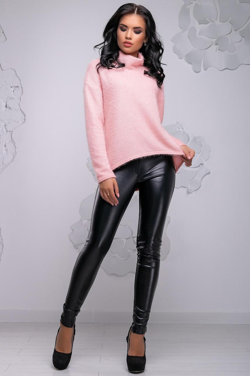 Женский персиковый свитер из ангоры, р 46 и 48