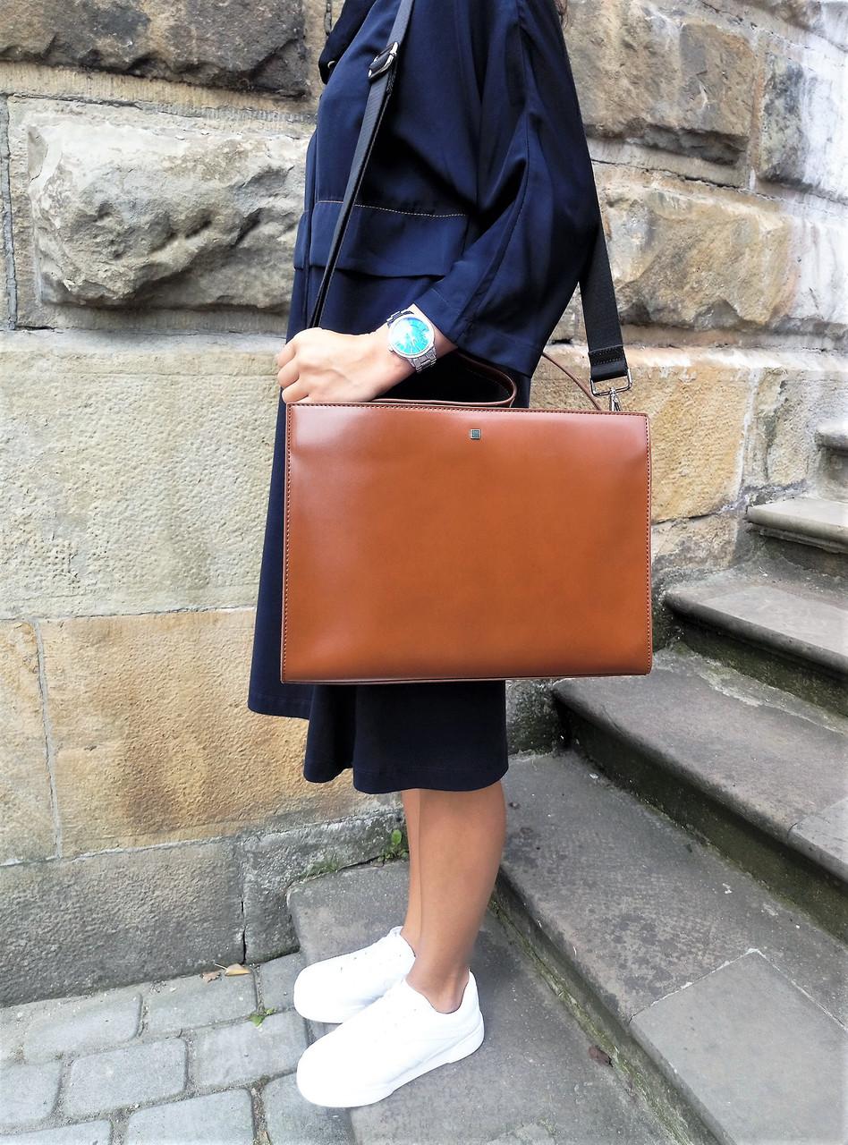 Женская сумка европейского бренда Reserved коричневого цвета лимитированная  коллекция экокожа d7ecea8c629e7