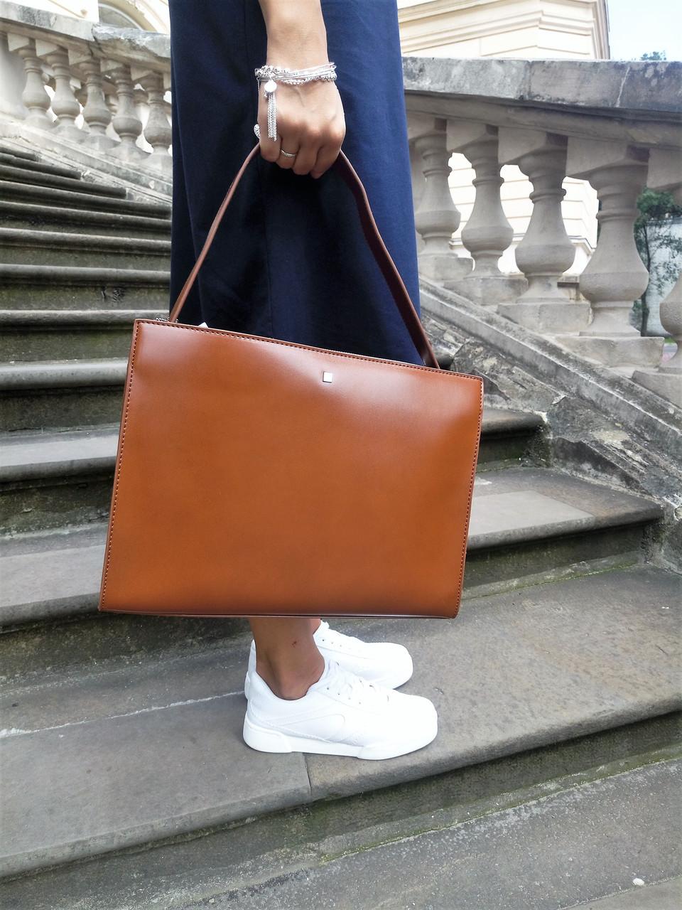 ... Женская сумка европейского бренда Reserved коричневого цвета  лимитированная коллекция экокожа c24974383e10c