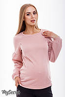 Красивый свитшот для беременных и кормления KELLY, пудра 1, фото 1