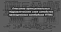 Описание принципиальных гидравлических схем семейства проходческих комбайнов 1ГПКС