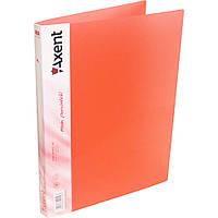 Папка с прижимом Axent A4, прозрачная красная